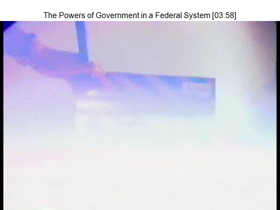 The Powers of Government in a Federal System [03:58]